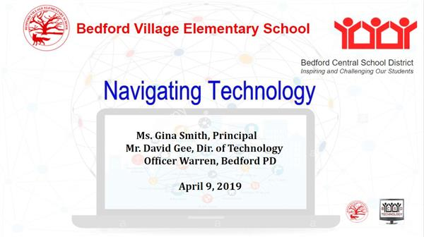 Navigating Technology Safely Title Slide