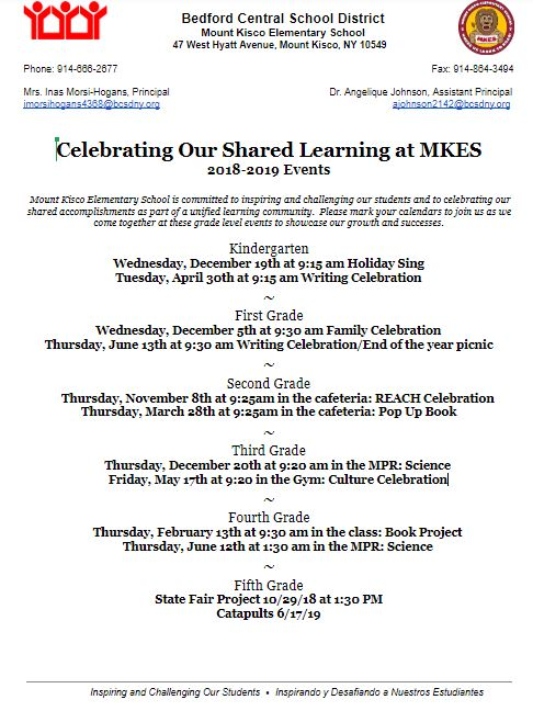 Celebrating Our Shared Learning