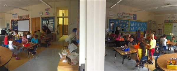 Side by side DLBE classrooms in Grade 1