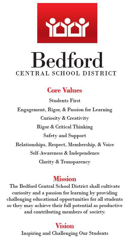 BCSD Values Mission Vision 2019