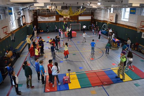 BHES students practice the circus arts