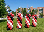 2020 balloon decorations for FLHS Cap & Gown Car Parade