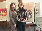 Italian teaching award winner Raffaella Pirone with FLHS World Language Coordinator, Magaly Reluzco