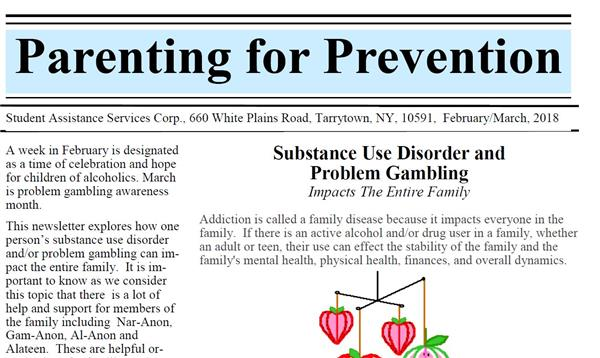 Parenting for Prevention, March 2018